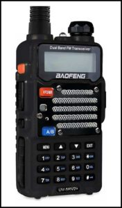Baofeng Black UV-5R V2 amateur radio