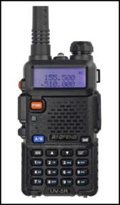 Baofeng Black UV-5R V2 amateur ham