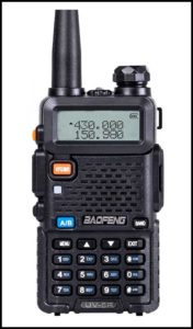 Baofeng Walkie Talkie UV-5R amateur radio