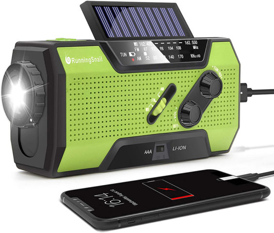 RunningSnail MD-090 Solar Emergency Radio