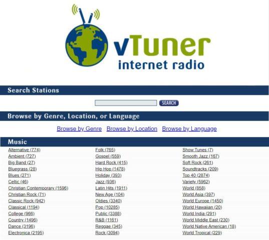 vTuner Internet Radio Station