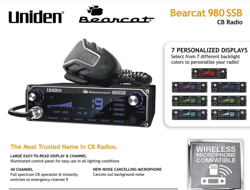 Uniden BEARCAT 980 40- Channel SSB CB Radio Review
