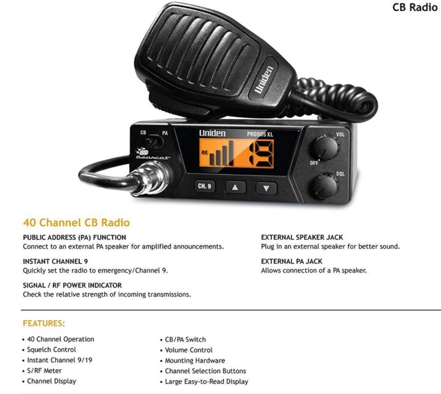 Uniden PRO505XL Compact CB Radio Review