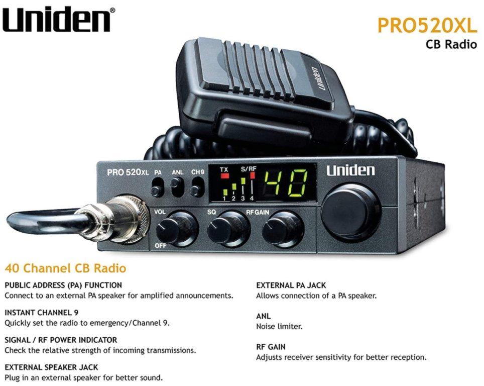 Uniden PRO520XL Pro Series CB Radio
